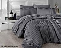 Комплект постельного белья сатин delux first choice евро размер NEW TREND FUME