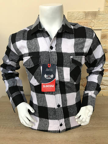 Детская кашемировая рубашка S.Besni 5-8, фото 2