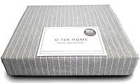 Пододеяльник U-TEK Hotel Collection  Cotton   Cotton Stripe Grey-White