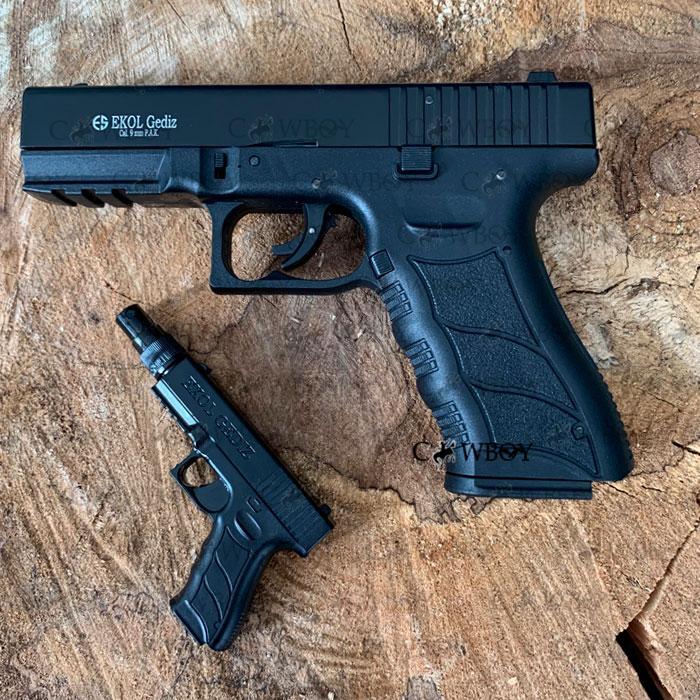 Ekol Gediz стартовый пистолет, черного цвета