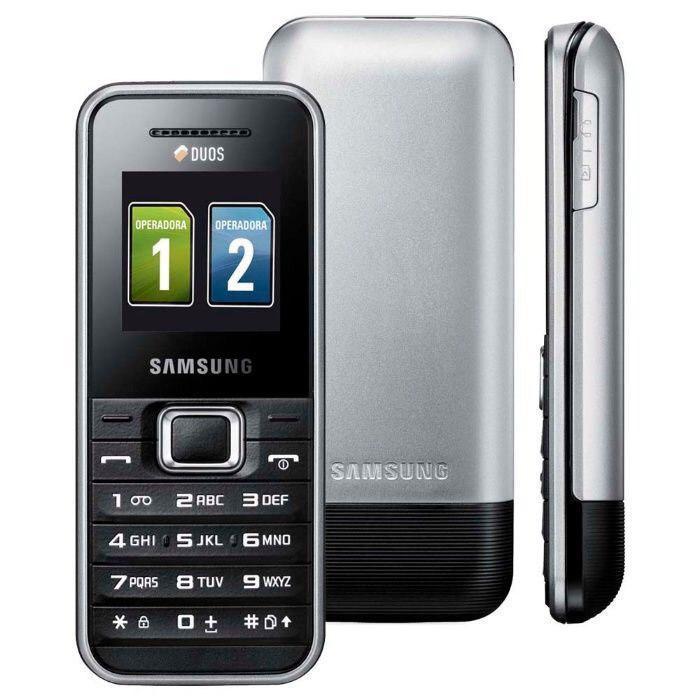 Мобильный телефон Samsung  E1182 Dual Silver 1000 мАч ОРИГИНАЛ