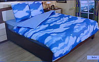 Трикотажное постельное бельё джерси с простыней на резинке Mimoza Турция полуторный размер