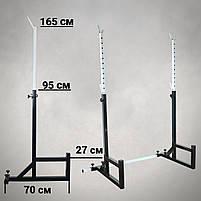 Лавка з від'ємним кутом (до 300 кг) + Стійки під штангу (до 200 кг), фото 7