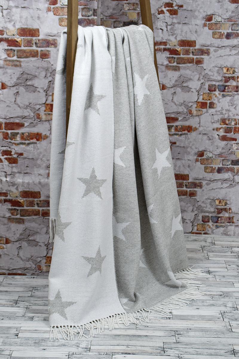 Плед Lotus Zeus - Stars серый 140*200