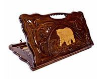 Нарды деревянные, резные Медведь ручной работы