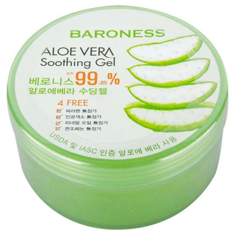 Багатофункціональний зволожуючий гель алое Baroness Aloe Vera Soothing gel 99% 300 мл
