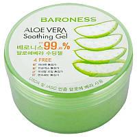 Багатофункціональний зволожуючий гель алое Baroness Aloe Vera Soothing gel 99% 300 мл, фото 1