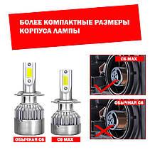 Лампа світлодіодна для фар С6 H1 3800 Lum колір світіння 6000К 2 шт/комплект, фото 3