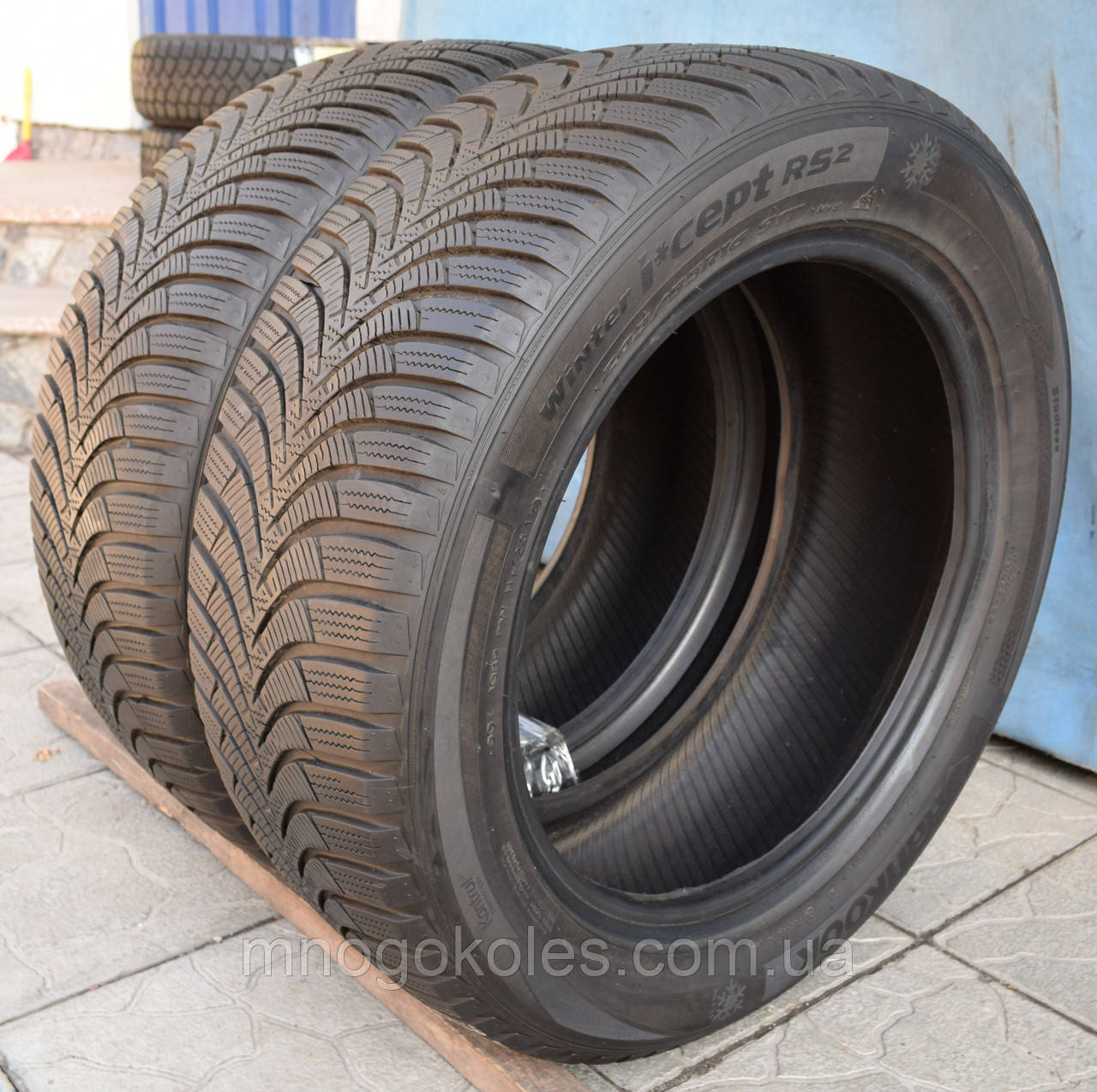 Шины б/у 205/55 R16 Hankook Winter i*Cept RS2, ЗИМА, 6 мм, 2017 г., пара