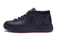 Мужские зимние кожаные ботинки ZG Black Exclusive Leather