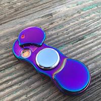 Электроимпульсная USB зажигалка спиннер Lighter, фото 1