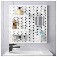 IKEA SKADIS Перфорированная панель, белая, 56x56 см (092.165.95)