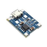 TP4056 Модуль заряду Li-ion акумуляторів, MicroUSB, фото 1