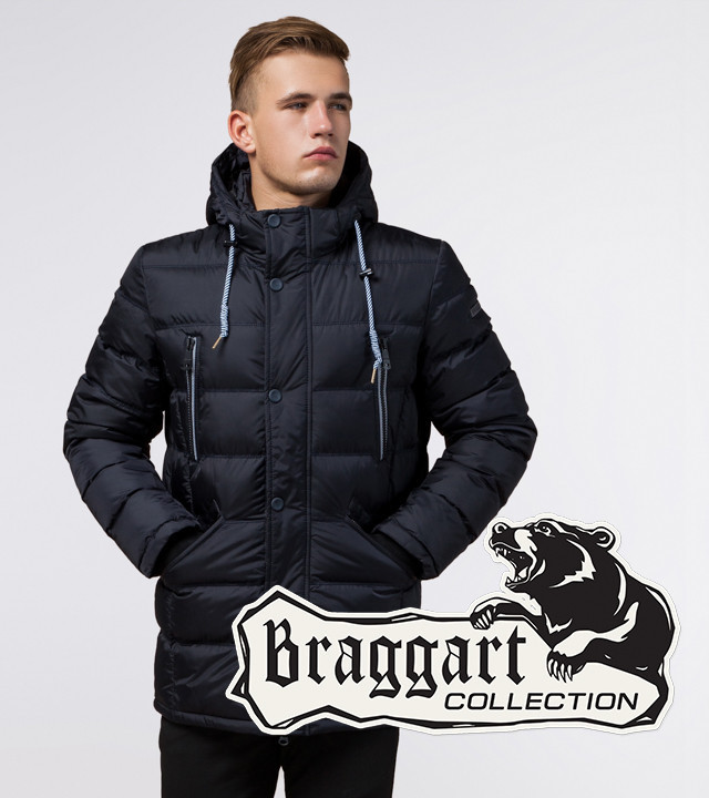 Braggart Aggressive 11726   Куртка на зиму темно-синяя
