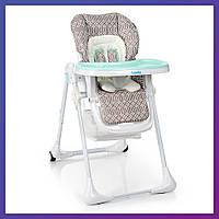Стульчик для кормления Bambi M 3890 Ornament Mint Бемби детский стул | Стілець для годування
