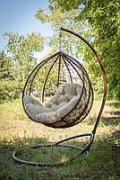 Подвесное кресло кокон из ротанга «Эко Премиум»