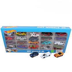 Набор машинок игрушечных Hot Wheels 1605-7 металл 20 машин в коробке