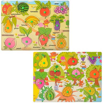 Рамка-вкладыш THS-015 с ручкой микс видов(фрукты-овощи ) в кульке 30-22 5-1 5см, фото 2