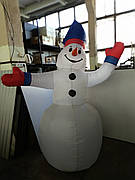 Надувной Снеговик со светодиодами 2,3M Б/у встроенная подсветка