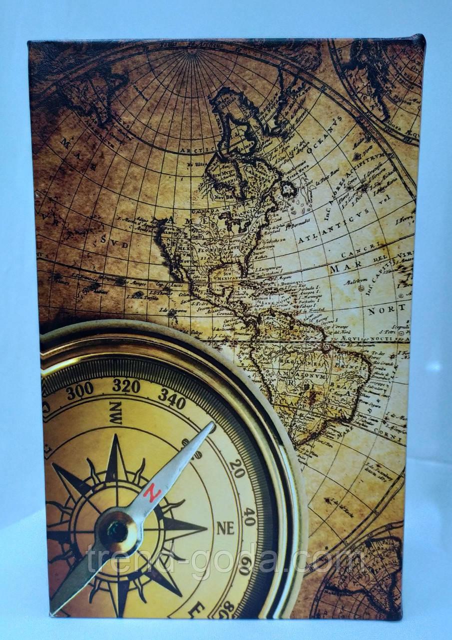 Книга-сейф шкатулка на ключике, компас и карта