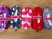 """Женские носки-тапочки """"Floor socks"""" меховые,тормоза. 8"""