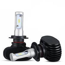 LED светодиодные лампы для авто S1 H7, комплект автомобильных светодиодных ламп (без радиатора)