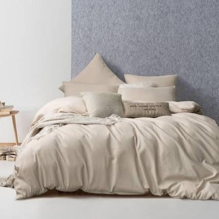 Постельное белье из однотонной бязи ГОСТ Песочный ТМ Moonlight двуспальный, фото 2