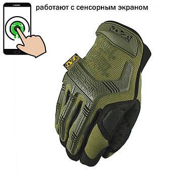 """🔥 Перчатки полнопалые """"Mechanix. M-Pact"""" (олива). тактические перчатки, боевые, штурмовые"""