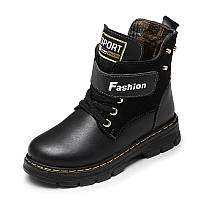 Детские кожаные зимние ботинки для мальчика и подростка. Супер качество. Размеры 26-37