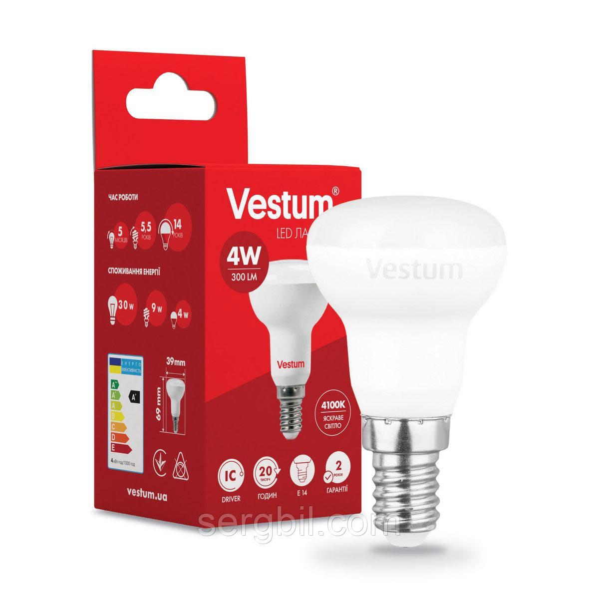 Светодиодная лампа Vestum LED  R39 4W 4100K 220V E14