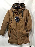 """Куртка-пальто зимняя на холлофайбере на мальчика, размеры 42-50 (4цв) """"MUSTANG"""" недорого от прямого поставщика"""
