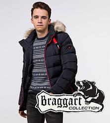 Подросток 13-17 лет | Куртка зимняя Braggart Teenager 73563 темно-синяя