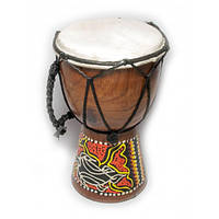 Барабан джембе расписной дерево с кожей