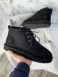 Мужские  зимние ботинки UGG David Beckham Boots (Black), мужские зимние Угги (Реплика ААА), фото 7