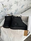 Мужские  зимние ботинки UGG David Beckham Boots (Black), мужские зимние Угги (Реплика ААА), фото 8