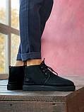Мужские  зимние ботинки UGG David Beckham Boots (Black), мужские зимние Угги (Реплика ААА), фото 5