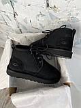 Мужские  зимние ботинки UGG David Beckham Boots (Black), мужские зимние Угги (Реплика ААА), фото 9