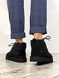 Мужские  зимние ботинки UGG David Beckham Boots (Black), мужские зимние Угги (Реплика ААА), фото 6