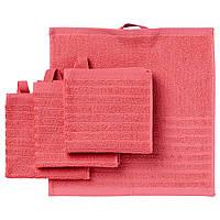 IKEA VAGSJON Полотенце для рук, светло-красный, 30x30 см (104.394.44)