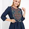 Синие платье вышиванка с орнаментом Руслана, фото 3