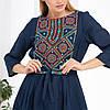Синие платье вышиванка с орнаментом Руслана, фото 6