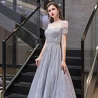 Голубое вечернее платье А силует ручной работы. Вечірня ніжна сукня. Очень красивое синие вечернее платье