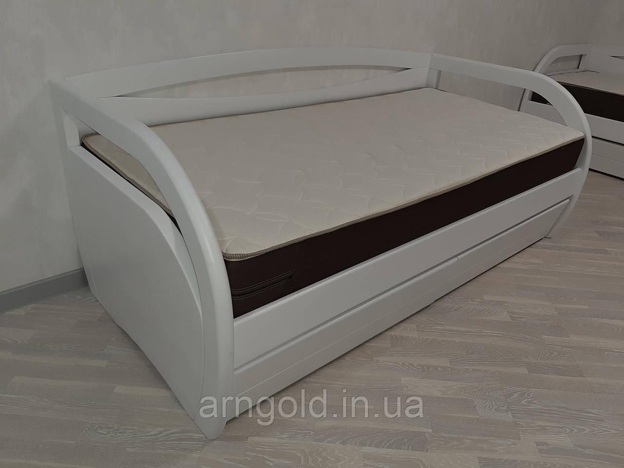 Кровать деревянная белая Bavaria Arngold