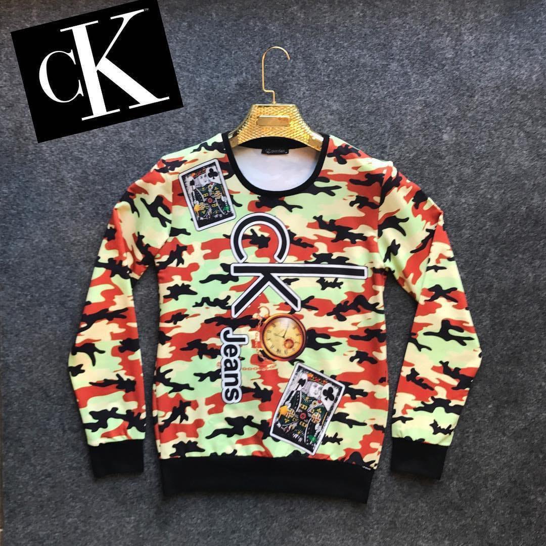 😜 Свитшот - Мужской свитшот с цветами CK