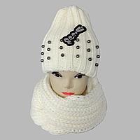 М 5057 Комплект женский шапка и шарф хомут  , разные цвета, фото 1