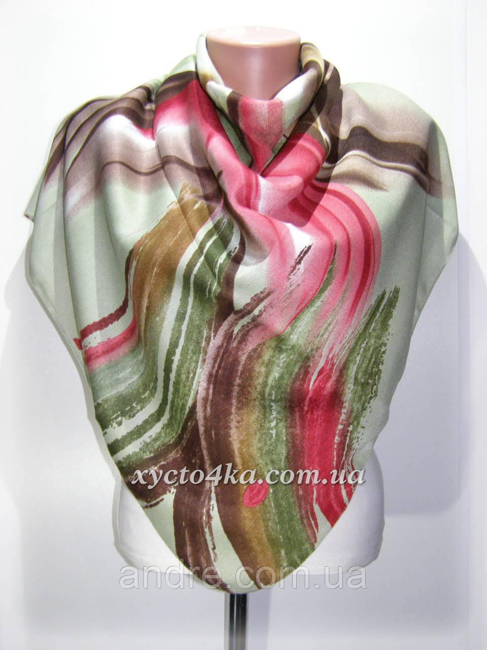 Кашемировый платок Акварель, зелёный