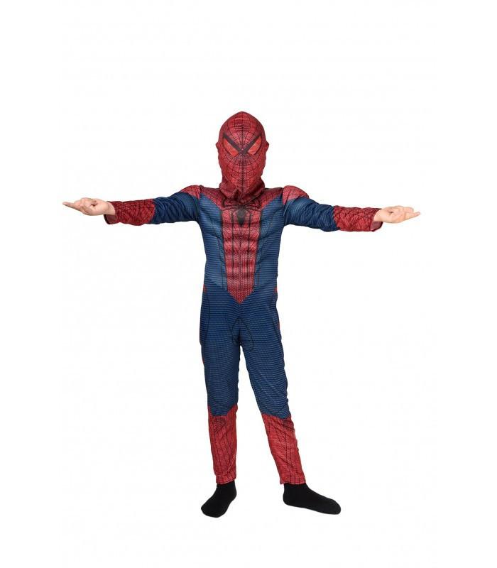 Детский карнавальный маскарадный костюм Человека - паука с мышцами рост: от 94 до 130 см