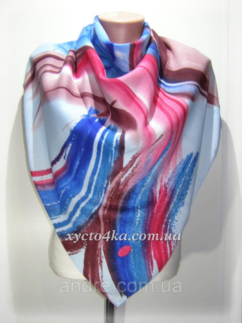 Кашемировый платок Акварель, голубой