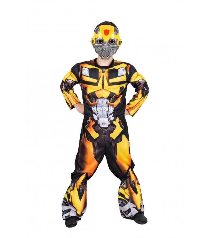 Детский карнавальный маскарадный костюм трансформера Бамблби размер на 9-10, 11-12 лет