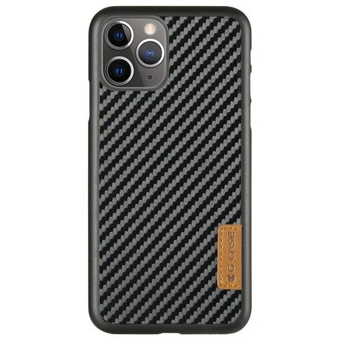 "Карбоновая накладка G-Case Dark series для Apple iPhone 11 Pro Max (6.5""), фото 1"